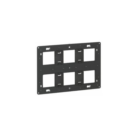 Support Batibox à vis - 2x3 postes - 2x6 à 8 modules - Legrand