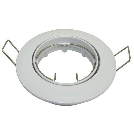 Support Blanc orientable pour spot GU10 encastrable D82