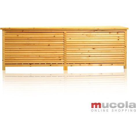 Support box Garden box Garden chest Cushion box Bench XXL Wood chest Wooden chest