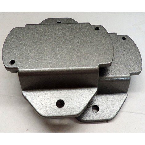 Support bride métallique noir pour fixation sur mat Ø 40-60mm de projecteur extérieur WOODY IGUZZINI 3.1190.015.0