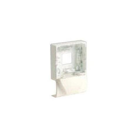 Support cadre blanc pour pose appareillage mural saillie PROFIL2 sur moulure 22X12.5mm SM-P2 IBOCO 08829
