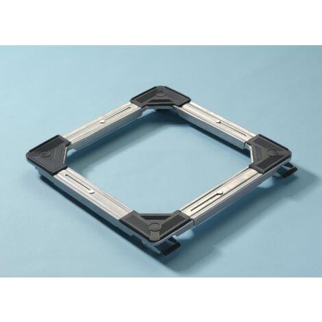 Support cadre sur roulettes extensible - 100 Kg maxi - Extensible mini 46 x 46 cm - maxi 64 x 64 cm - Hauteur totale 42 mm avec freins Mottez B747V