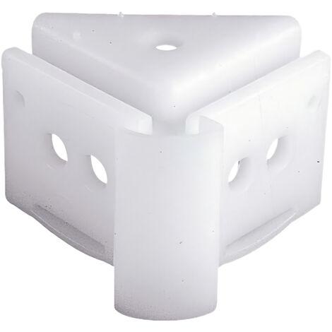 Support d'angle de plafond pour rail P-909 blanc AFT 05431649