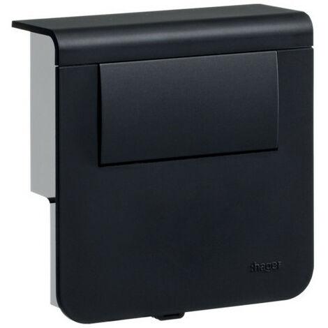 Support d'appareillage équipé d'un tranfo LED 30W Noir (SL200809LED9011)