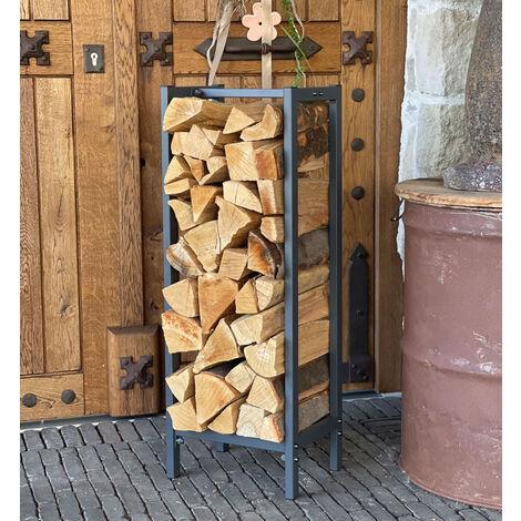 Support de bois de chauffage 33x33x115cm grille de bois de chauffage cheminée poêle à bois étagère