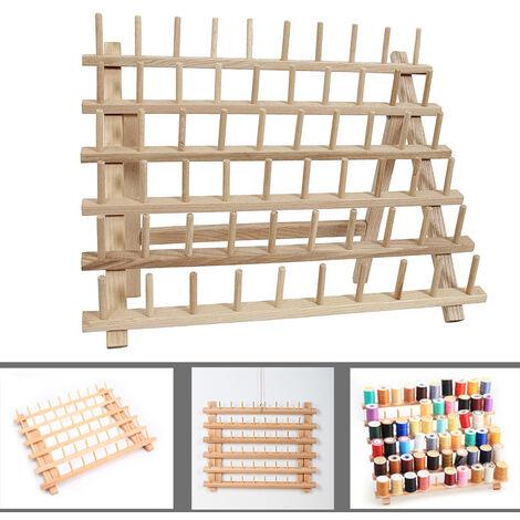 Support de fil d'outil de couture organisateur en bois pliable support de fil de bois support de support de rangement mural organisateur support de rangement de couture