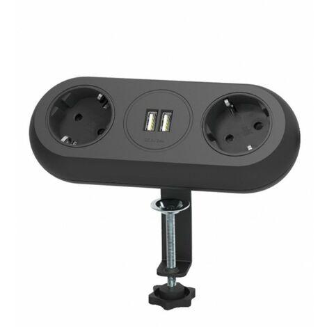 support de fixation de siège meubles, un chargeur USB, deux prises de courant 2P + (Schuko), 2xUSB conduit 3x1.5mm2 - 1,4 m, Noi