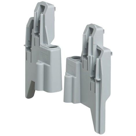 Support de fixation pour borniers ou supports vides dans coffrets Plexo3 3 et 4 rangées 12 et 18 modules (001973)