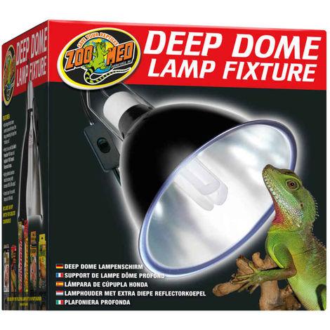 Deep De Lf Dôme Dome 17e Terrarium 160w Lampe Pour Support Zoomed Profond wnP0Ok