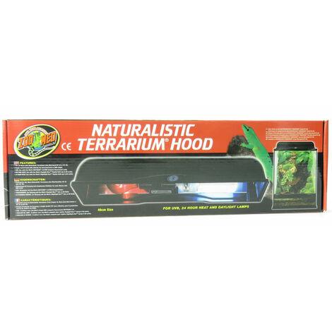 support de lampe double naturalistic terrarium hood 2x60 w max LF-55E
