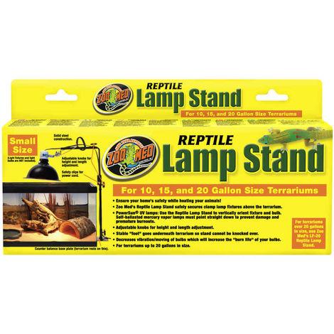 Zoomed - Support de Lampe sur Pied Réglable Lamp Stand pour Terrarium - 61cm