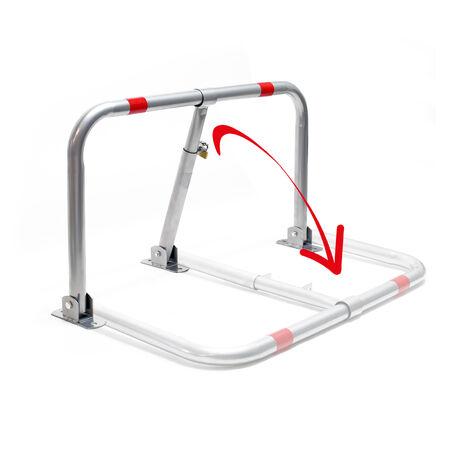 Support de place de stationnement pliable avec cadenas et bandes réfléchissantes
