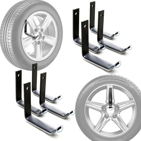 Support de pneus mural pour 8 pneus Accessoires pour pneus Étagère pour pneus