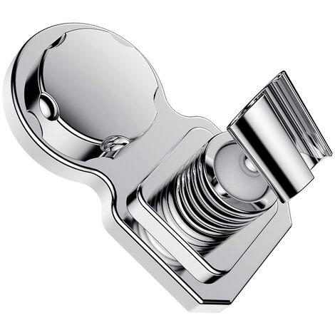 Support de pommeau de douche, support de pommeau de douche, support de pommeau de douche, ventouse, support mural Clip de pommeau de douche réutilisable réglable avec disque adhésif pour salle de bain