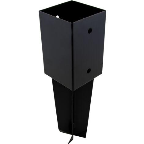 Support de poteau À sceller pour poteau bois, H.9 x P.9 cm, 91x91x100 mm