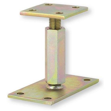 Support de poteau réglable 110 A 180 MM H160X90 et B90X90 Platine Epaisseur 6 MM - WAELBERS 426502.99