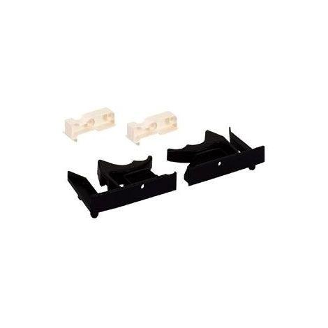 Support de raccord pour 16/19mm - Décor : Noir / Blanc - Matériau : Plastique - HETTICH