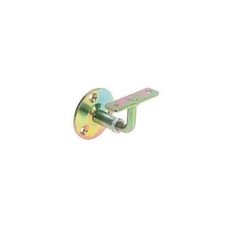 Support de rampe - Décor : Bichromaté - Platine : ⌀ 60 mm - Matériau : Acier - FOSUN - Vendu à l'unité
