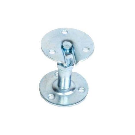 Support de rampe droit - en acier zingué - réglable 55 à 70 mm