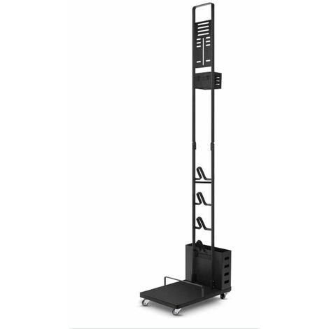 Support De Rangement En Metal, Compatible Avec L'Aspirateur Balai Sans Fil Dyson V11 V10 V8 V7 V6 - 22*34*131cm - Noir - Noir