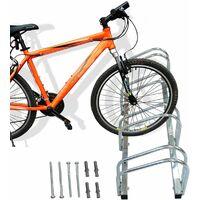 Support de Rangement Vélo, Râtelier Familial pour Vélo, Peut contenir 4 vélos, Dimensions: 99 x 32 x 26 cm
