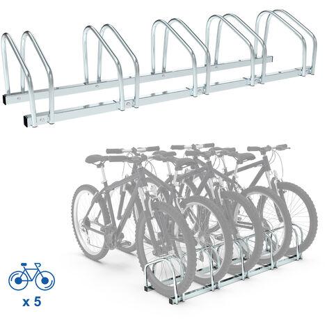 Support de Rangement Vélo, Râtelier Familial pour Vélo, Peut contenir 5 vélos, Dimensions: 132 x 32 x 26 cm