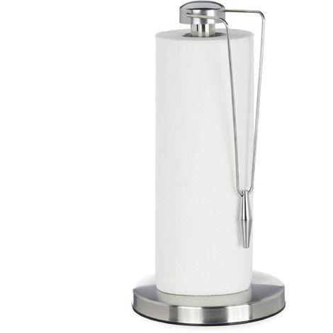 Support de sopalin en inox, Design porte-sopalin sur pieds, pour la cuisine, HxD: 32 x 16 x 5,5 cm, argenté