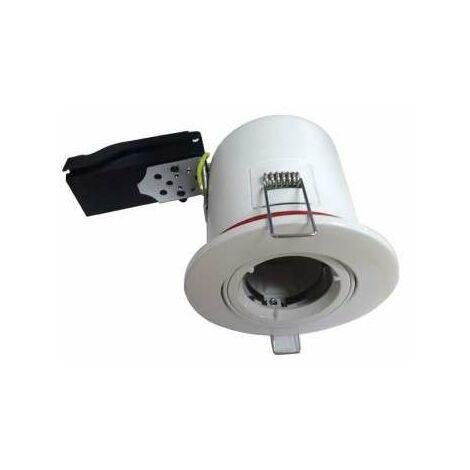 Support de Spot BBC Orientable Blanc 100mm GU10