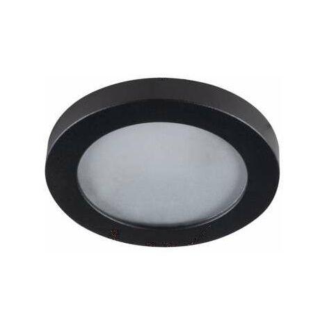 Support de spot encastrable perçage 60mm - étanche IP44 rond Noir