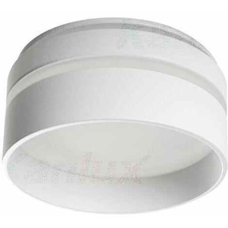 Support de spot encastrable perçage 67mm rond Blanc