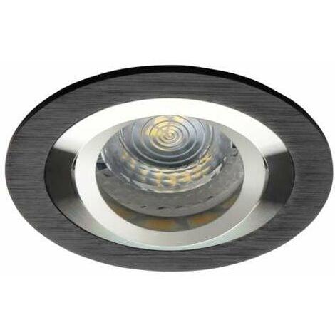 Support de spot encastrable rond orientable gris foncé