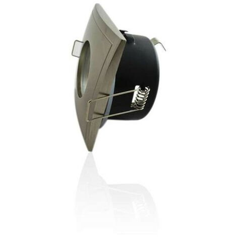 Support de spot étanche IP65 - carré aluminium brossé