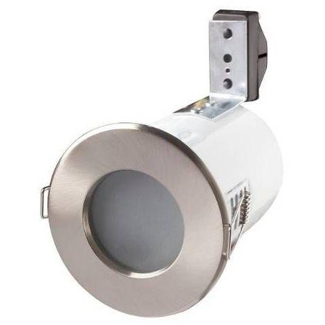 Support de spot étanche IP65 - RT2012 - anti-feu - Finition - Acier brossé