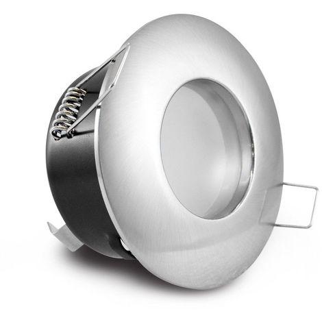 Support de spot LED BBC étanche IP65 Fixe Ø81 Finition Chrome