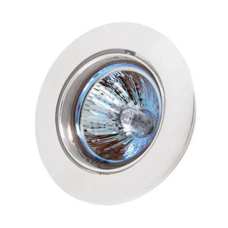 Support de spot rond orientable blanc pour GU10 et MR16 (G5.3) Diam. 80mm