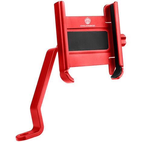 Support De Support Telephone Mobile En Aluminium Argent Retroviseur Interieur Leve Renfort, Rouge