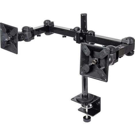 """Support de table pour écran Manhattan 420808 25,4 cm (10"""") - 61,0 cm (24"""") inclinable, mobile noir R01068"""