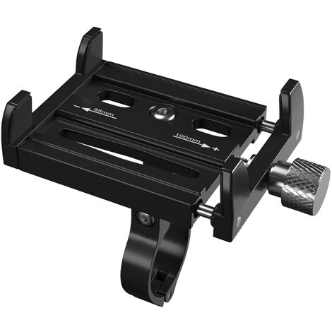Support De Telephone Portable De Velo En Alliage D'Aluminium, Support De Navigation Fixe Anti-Vibration Pour Voiture, Noir