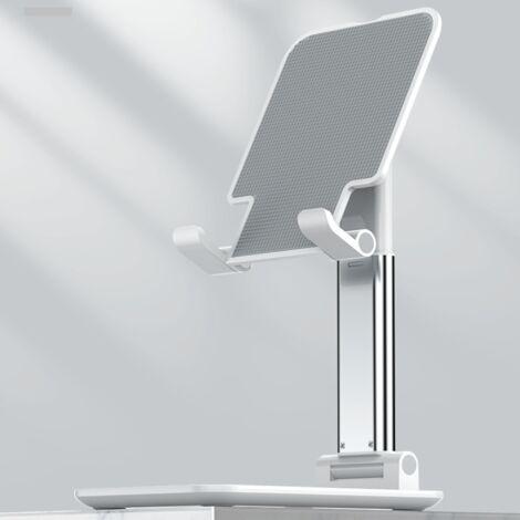 Support de téléphone portable Support de tablette réglable en aluminium résistant aux rayures Ipad, Samsung, Huawei, support de téléphone portable Xiaomi (blanc perle)