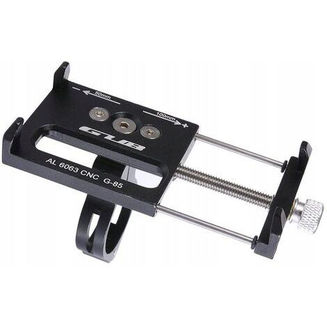 Support de téléphone pour vélo et moto - Support de téléphone de vélo en aluminium avec support de téléphone à poignée rotative et réglable à 360 °, adapté pour téléphone portable de 3,5 à 6,5 pouces (noir)