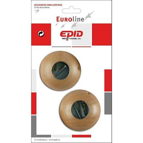 Support de tringle à rideaux côté 29Mm bois naturel Epid 02294401