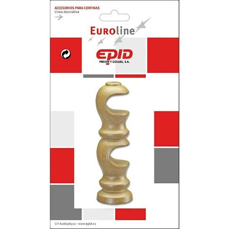 Support de tringle à rideaux double 19Mm bois naturel Epid 02184101