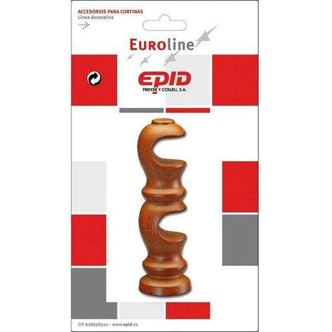 Support de tringle à rideaux double 19Mm en bois de cerisier Epid 02184103