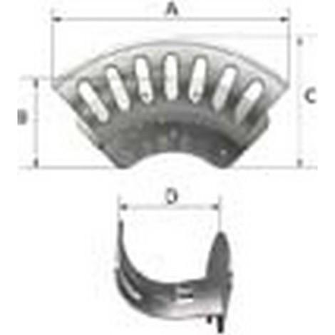 Support de tuyau flexible, Taille : grand, A 336 mm, B 124 mm, C : 152 mm, D : 132 mm, Nombre de raccords de tuyaux max. : 45-50 m à NW 13