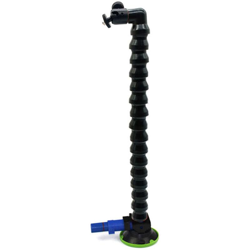 Support de ventouse de pompe de trois pouces avec pan / tilt, accessoires de lampe de nivellement de reparation de depression de voiture, (tube noir)