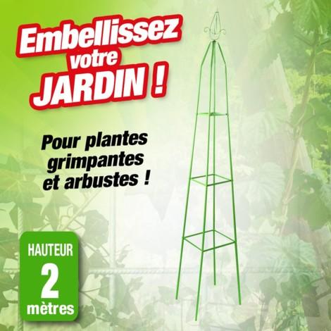 Support décoratif pour plante en métal. Hauteur 2m
