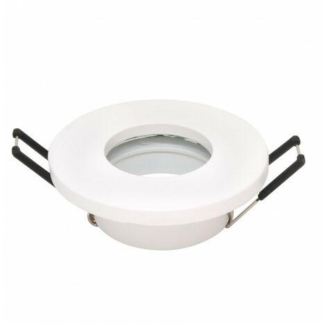 - Support d'encastrement GU10 / MR16 Étanche IP65 - Rond - Blanc mat
