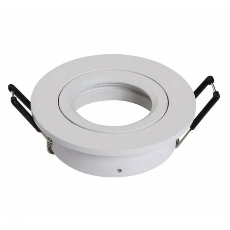 Support d'encastrement GU10 / MR16 Orientable - Rond - Blanc