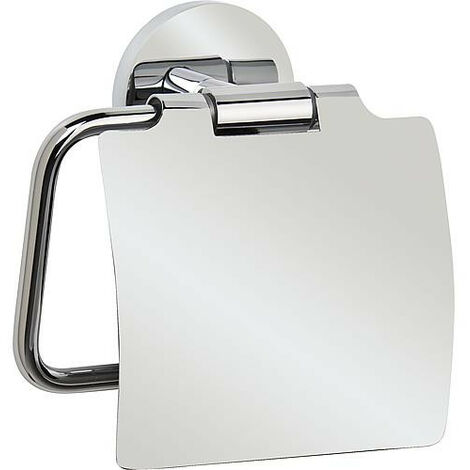 support Dérouleur papier WC Laiton chromé avec couvercle