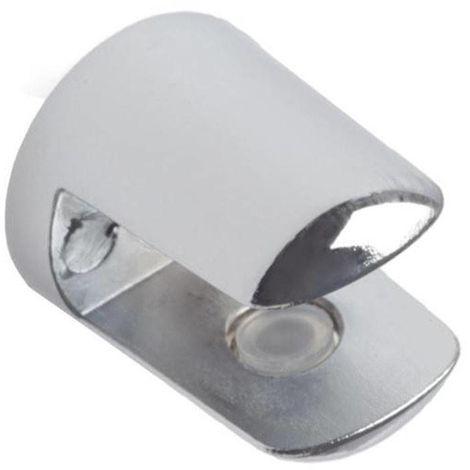 Support d'étagère en verre 3-6 mm chromé brillant Ehl